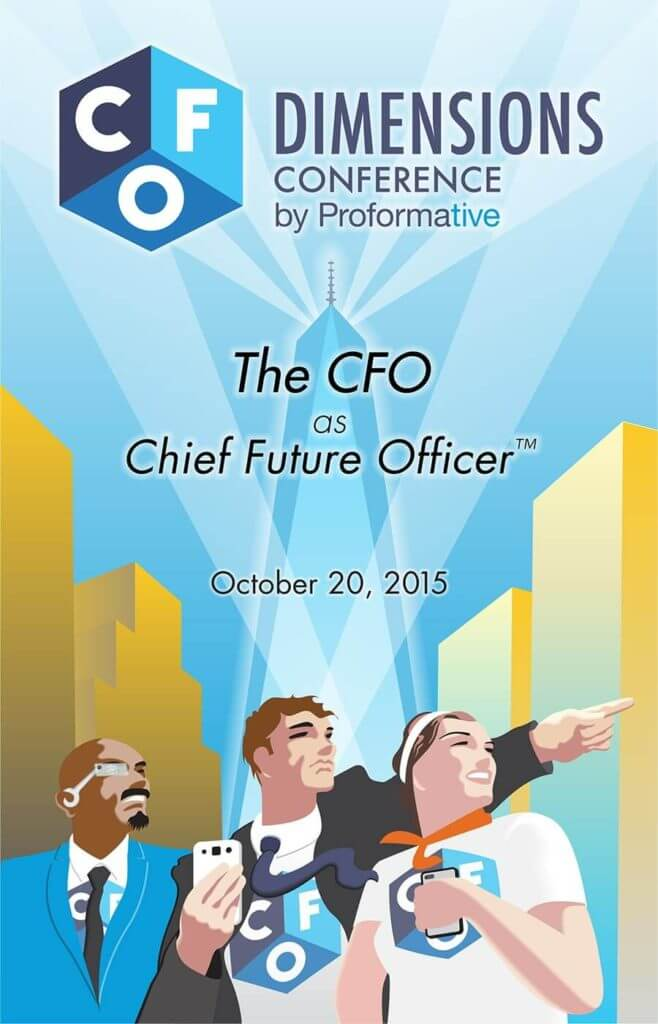 Book cover design, CFO Dimensions conference