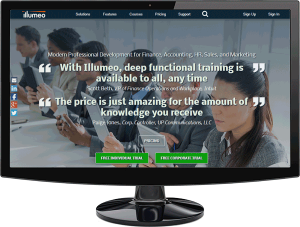 Illumeo Home Page Desktop