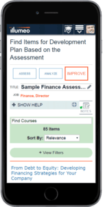 Illumeo Assessment - Improve - Mobile