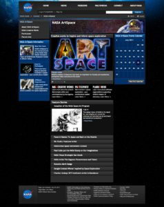 ArtSpace - Home Page screen capture