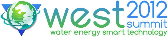 Horizontal WEST (water, energy, smart technology) conference logo